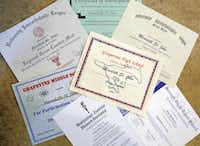 Meredith has many certificates of achievement that she and her parents hope will help her get into a good college. Extracurricular activities can also help students win scholarships.( David Woo  -  Staff Photographer )
