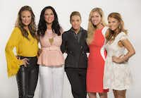 <i> Real Housewives of Dallas</i> season 1 cast members were (from left) Tiffany Hendra, LeeAnne Locken, Cary Deuber, Stephanie Hollman and Brandi Redmond.((Evans Caglage / Staff Photographer))
