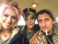 Kathryn Dirks, left, and Rian Lashley, center, 10 days before Lashley's death(Facebook)