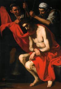 Jusepe de Ribera's Crowning With Thorns is an oil on canvas dating to circa 1620.(House of Alba Collection - House of Alba Collection)