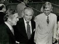 Lloyd Bentsen (left) and Robert Strauss (center).( DMN File )