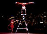 Rolla Bolla, an act from Cirque Musica.
