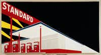 "Ed Ruscha's Standard Station, Amarillo, Texas, 1963 is one of the paintings in ""International Pop,"" which arrives Oct. 11 at the Dallas Museum of Art. The exhibition explores the emergence and color of the pop movement in the 1960s-70s.(Modern Art Museum)"