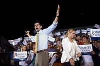 Rep. Paul Ryan (R-Wis.), the Republican vice presidential candidate, at a campaign rally in Fort Myers, Fla., Oct. 18, 2012. Ryan spent Thursday campaigning in Florida. (Max Whittaker/The New York Times)(MAX WHITTAKER)