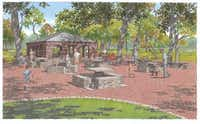 This rendering shows what the restored stone tables would look like. The White Rock Lake Conservancy is raising money to repair the Stone Tables and Pavilion area at the lake.(White Rock Lake Conservancy - Courtesy photo)