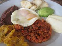 The Honduran breakfast  at Las Verandas features handmade tortillas, among other delights.(June Naylor)