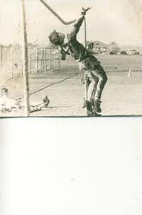 """During its senior season in 1978-79, the J.J. Pearce High School varsity soccer team went undefeated. As the team's goalie and co-captain, Harper was the last line of defense. """"He pulled us out of some [games] we probably shouldn't have won,"""" said friend and former teammate Brad Scott. Rob is pictured during a J.J. Pearce soccer practice in 1978.Photos submitted by CARYN HARPER"""