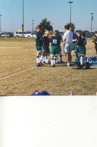 Rob Harper coached in the Carrollton Farmers Branch Soccer Association for many years. He is pictured here coaching his son, Will's soccer team in 1998.(Photo submitted by CARYN HARPER)