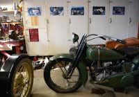 Roland Mack, 91, owns a 1925 Harley Davidson and side car.ROSE BACA