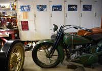 Roland Mack, 91, owns a 1925 Harley Davidson and side car.(ROSE BACA)