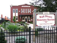 Walt DisneyaaØs family moved to Marceline when he was five, and they stepped off the train into the red brick Santa Fe Depot that today houses the Walt Disney Hometown Museum.