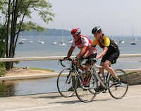 On the outskirts of the park, Lake Champlain is among the highlights of a scenic cycling ride through wineries, apple orchards and the countryside of the Adirondack Park region.Adirondack Coast Visitors Bureau -  Adirondack Coast Visitors Bureau