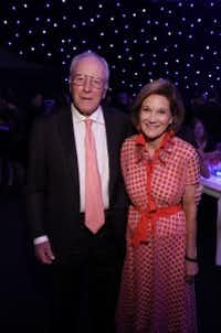 Rusty Rose (left) and his wife, Deedie Rose, served as honorary co-chairs in November at an event for the Perot Museum of Nature and Science. (Jason Janik / Perot Museum)