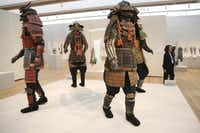 The Kimbell Art Museum in Fort Worth is hosting an exhibit of samurai armor from the Ann and Gabriel Barbier-Mueller Collection. The exhibit features more than 140 works and continues through Aug. 31.( L.M. Otero  -  The Associated Press )