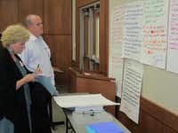 Members of Lewisville ISD's strategic design team weighed community input at a meeting in November 2011. The board of trustees approved the strategic design plan June 2012.Photo submitted by KAREN PERMETTI