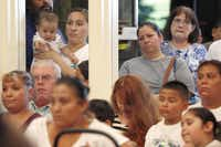 The City Council chamber was packed with about 150 people. Outside in the lobby, about a hundred more watched the proceedings through the windows.( Rose Baca  -  Staff Photographer )