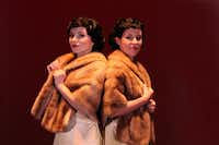 Molly Franco (left) as Daisy Hilton and Chloe Voreis as Violet Hilton star in Side Show at Casa Manana. Guide/famkidscorner