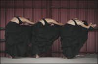 Nicole Jordan, artistic director Jessie Rosenberger and Macy Loucks of Simple Sparrow Dance Company.