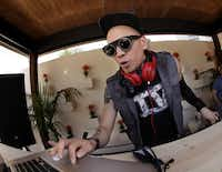 Taboo, of Black Eyed Peas, performs during a pool party at Sisu in Dallas, TX, on May 5, 2013.