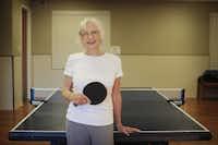 Rec center discounts help Karen Loyd, 78, indulge her love of pingpong.