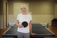 Rec center discounts help Karen Loyd, 78, indulge her love of pingpong.