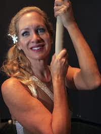Stephanie Stewart, 50, is an aerialist.