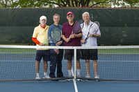 From left: USTA Senior Team members Joe Jameson, Phil Hontz, Joe Cotter and Lou Albert at the Huffhines Tennis Center.(Brandon Wade - Special Contributor)