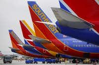 Southwest Airlines' ticket price includes two free checked bags, but Alaska Airlines and Virgin America have weapons beyond price. (Patrick T. Fallon/Bloomberg)