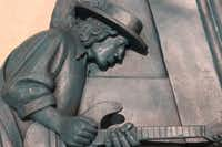 Stevie Ray Vaughan is part of David Newton's medallions on display at Dallas Love Field, installed in 2014