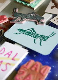 """Artist Shamsy Roomiani makes custom rubber stamps in her Dallas studio. A relief-printing class in college set her free to pursue her passion: """"I no longer had to hide from my obsession with stamping.""""Brad Loper  -  Staff Photographer"""