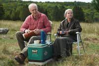 James Cromwell as Craig and Genevieve Bujold as Irene in STILL MINE.