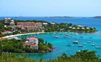 Cruz Bay is St. John's main port, and a hotspot for restaurants, bars and shops.
