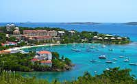 Cruz Bay is St. John's main port, and a hotspot for restaurants, bars and shops.