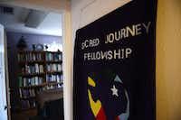 A room contains shelves of faith reading material at Sacred Journey Fellowship church. 252ROSE BACA  - neighborsgo staff photographer