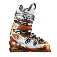 Salomon-Impact 120 CS Ski boots in orange and translucent-white