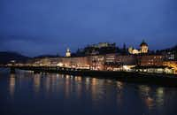A general view of the city of Salzburg and the Salzach river taken on January 8, 2013.