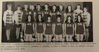 Coach Sandra Meadows (far left) is pictured with her team, which included Janice Savage-Martin (front second from left), a tournament volunteer and former Duncanville basketball player who played under Meadows from 1969 to 1971. 252ROSE BACA