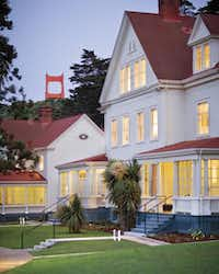 Historic  buildings at Cavallo Point have been repurposed as luxury lodgings. Book a room at Cavallo Point Lodge for spectacular views of the Golden Gate Bridge.Kodiak Greenwood -  Cavallo Point