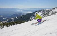 Sunshine, powder and sweeping views of Lake Pend Oreille greet visitors at Schweitzer Mountain Resort, Idaho.