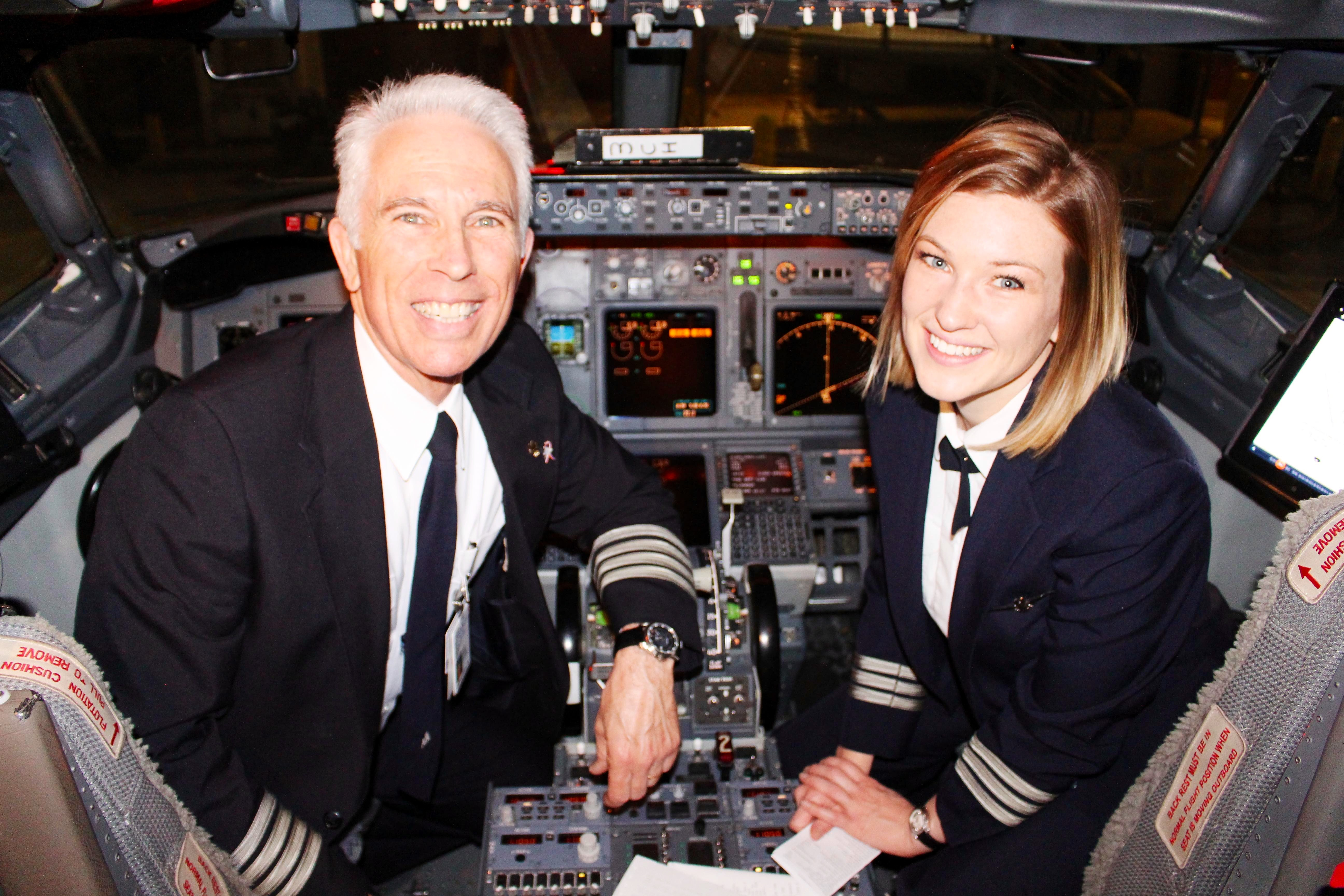GMA: American Airlines captain flies with his daughter as first ...