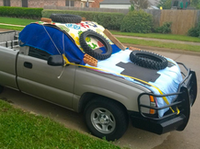 Crazy car cover for storm. (Linda K O'Donnell to NBC5)