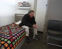 When Simon Sanders arrived at The Bridge, it took months before he would accept help. But now he has his own space in the facility's transitional shelter.