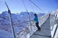 Europe's highest suspension bridge can be found at the top of Engelberg's ski resort.( Michaela Urban )