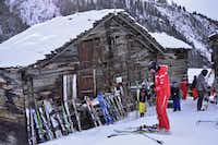Findeln is a tiny village near Zermatt that serves as a rest stop for hungry skiers.( Michaela Urban )