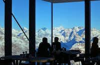 The new restaurant</bold> Ice Q offers high-end dining on the Sölden Glacier summit.(Michaela Urban)