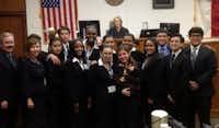 Skyline High School mock trial team (Credit: Dallas Bar Association)
