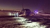 Emergency crews are responding to a Southwest Airlines Jet that rolled off the taxiway at Nashville International Airport.