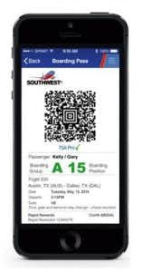 Southwest Airlines Makes E Boarding Passes Available Across The