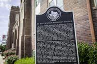 St. Paul United Methodist Church on Routh Street received its historical marker in 2013 through the Dallas County Historical Commission's Undertold Marker program. (File Photo/Smiley N. Pool)