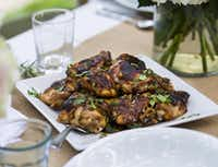 Tamarind Chicken Thighs is a great make-ahead recipe for a group.(Ashley Landis - Staff Photographer)